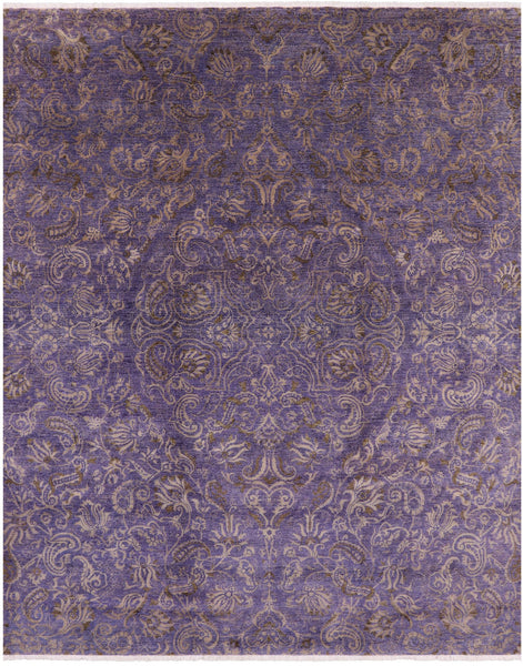 "Arts & Crafts Hand Knotted Wool Area Rug - 8' X 10' 2"" - Golden Nile"