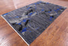 Abstract Design Handmade Area Rug - 6' X 9' - Golden Nile