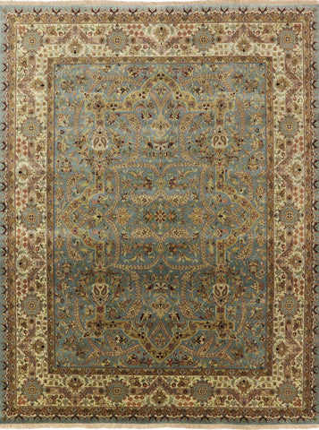 8 X 10 Hand Knotted Persian Tabriz Area Rug