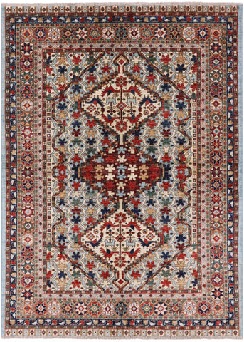 5' X 7' Oriental Fine Serapi Hand Knotted Wool Rug