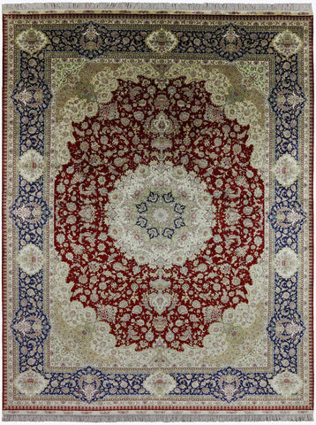 Persian High End 100% Silk Area Rug 9' X 12'