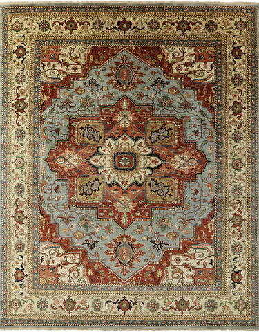 Heriz Serapi Authentic Persian Hand Knotted Area Rug - 11' 8