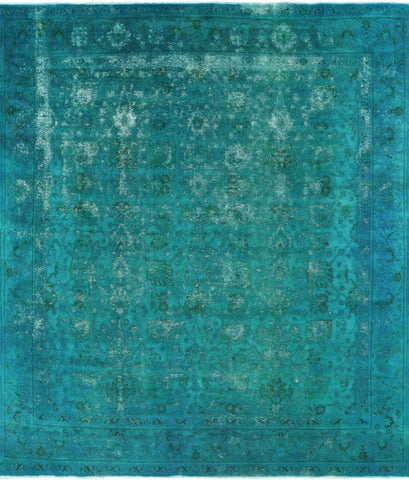 Overdyed Authentic Persian Hand Knotted Area Rug - 9' 4