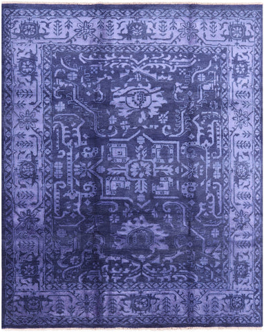 Fine Serapi Hand Knotted Wool & Silk Area Rug - 8' 2