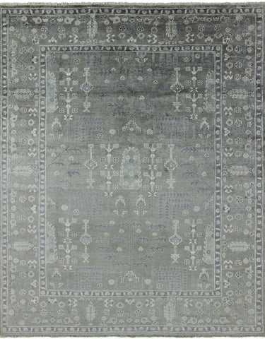 Ziegler Hand Knotted 100% Silk Area Rug - 7' 10
