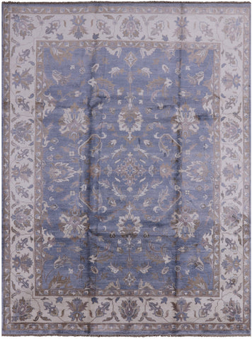 Oushak Hand Knotted 100% Silk Area Rug - 9' X 12'