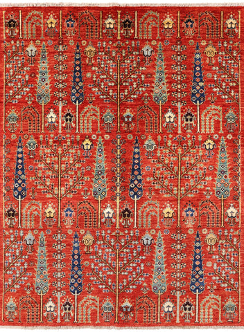 Persian Ziegler Hand Knotted Oriental Wool Area Rug - 5' X 6' 7