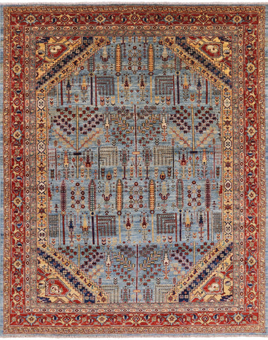 Persian Ziegler Hand Knotted Area Rug - 7' 10