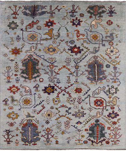 Wool on Wool Super Oushak Hand Knotted Oriental Rug - 9' 7