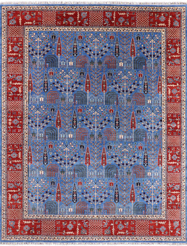 Persian Ziegler Hand Knotted Oriental Wool Area Rug - 11' 9