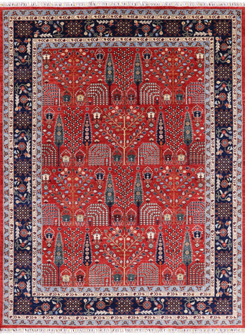 Persian Ziegler Hand Knotted Oriental Rug - 9' X 11' 7