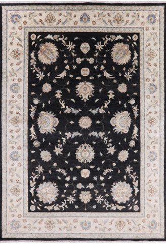 Peshawar Hand Knotted Wool Area Rug - 9' 11