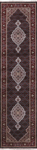Persian Tabriz Hand Knotted Wool & Silk Runner Rug - 2' 6