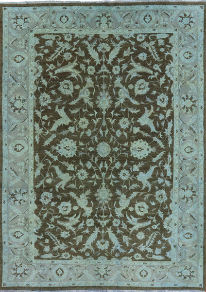8 X 11 Perisan Washed Out Handmade Area Rug - Golden Nile