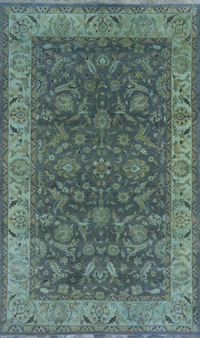 Oriental Overdyed Area Rug 6 X 9