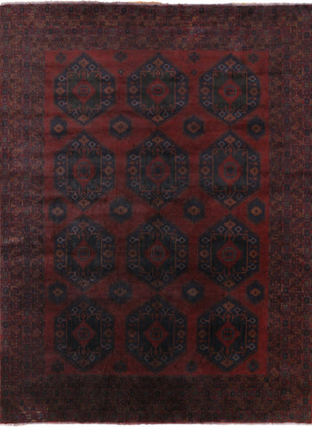 Overdyed Balouch Wool on Wool Rug 11 X 14
