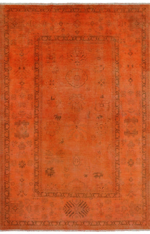 Overdyed Hand Knotted Rug 6' 3