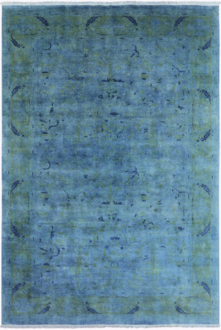 Overdyed Hand Knotted Rug 10' 0