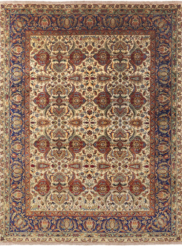 Persian Tabriz Hand Knotted Wool Area Rug - 9' 1