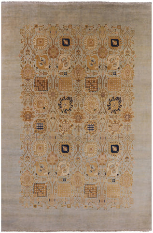 Peshawar Hand Knotted Wool Oriental Area Rug - 9' 8