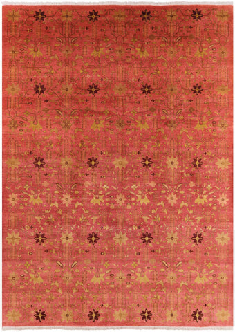 All Over Peshawar Hand Knotted Wool Area Rug - 10' 1