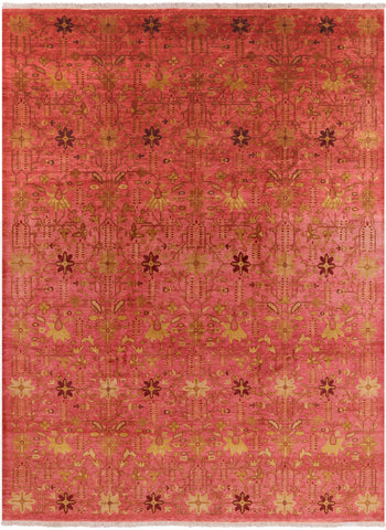 All Over Peshawar Handmade Wool Area Rug - 9' 1