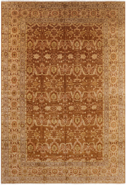 "Hand Knotted Peshawar Oriental Wool Area Rug - 11' 10"" X 17' 7"""