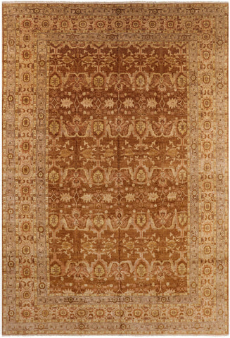 Hand Knotted Peshawar Oriental Wool Area Rug - 11' 10