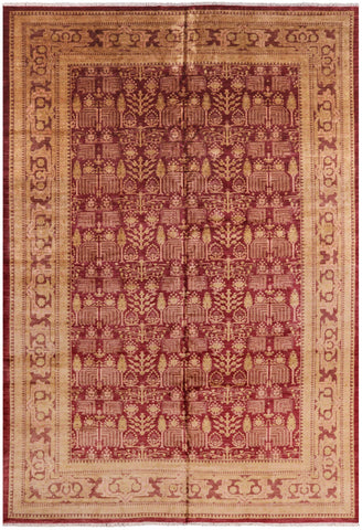 Persian Ziegler Hand Knotted Wool Area Rug - 12' 4