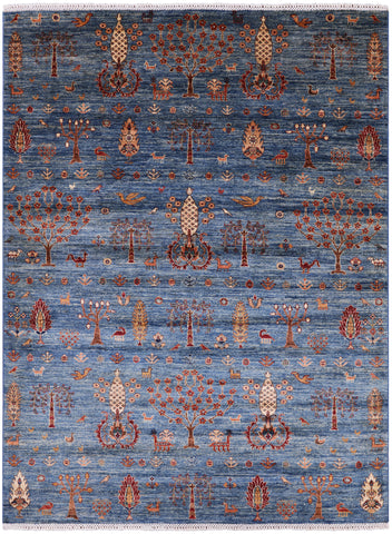 Super Gabbeh Handmade Wool Area Rug - 5' 10