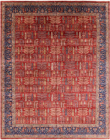 Persian Ziegler Hand Knotted Wool Area Rug - 11' 11
