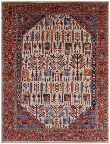 Persian Ziegler Hand Knotted Wool Area Rug - 8' 10