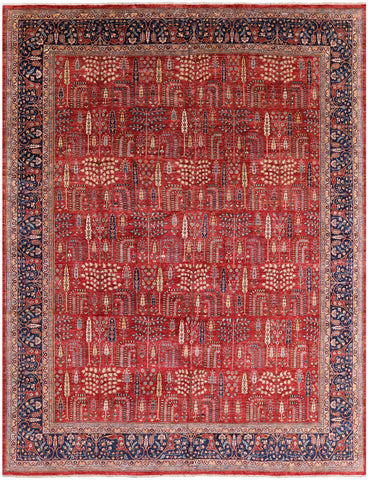 Persian Ziegler Hand Knotted Wool Area Rug - 11' 8