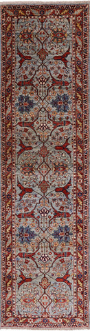 Fine Serapi Hand Knotted Wool Runner Rug - 2' 8
