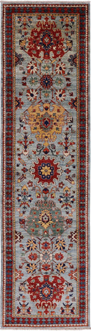 Fine Serapi Hand Knotted Wool Runner Rug - 2' 9