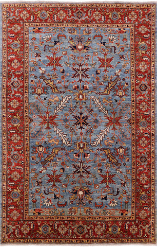 Fine Serapi Hand Knotted Wool Area Rug - 5' 9