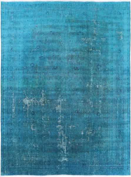 "Persian Overdyed Hand Knotted Wool Area Rug - 9' 5"" X 12' 7"""