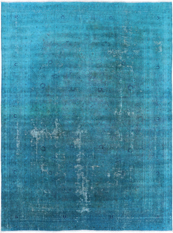 Persian Overdyed Hand Knotted Wool Area Rug - 9' 5