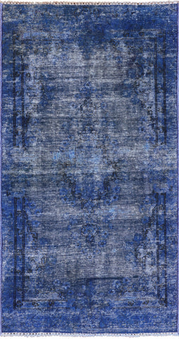 Persian Overdyed Hand Knotted Wool Area Rug - 2' 8