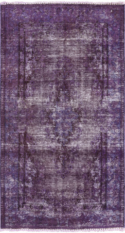 Persian Overdyed Hand Knotted Wool Area Rug - 2' 10