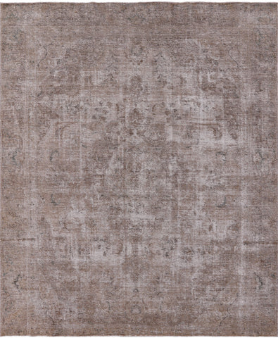 Persian Vintage White Wash Hand Knotted Wool Area Rug - 9' 2