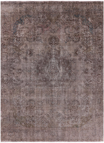 Persian Overdyed Hand Knotted Wool Area Rug - 9' 7