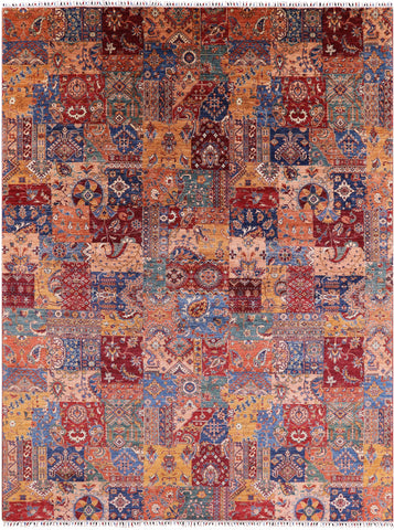 Tribal Persian Gabbeh Hand Knotted Wool Area Rug - 9' 10