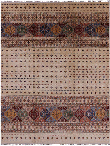 Persian Gabbeh Hand Knotted Wool Area Rug - 9' 3