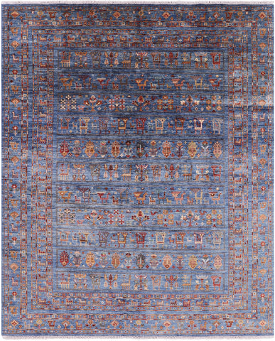 Persian Gabbeh Hand Knotted Wool Area Rug - 8' 2
