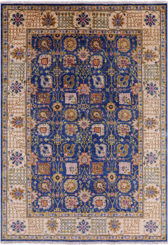 Peshawar Hand Knotted Wool Area Rug - 5' 9