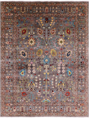 Peshawar Hand Knotted Wool Area Rug - 11' 9