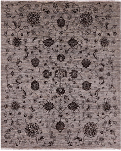 Natural Dyed Peshawar Hand Knotted Wool Area Rug - 8' 4