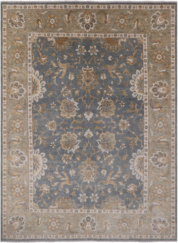Peshawar Hand-Knotted Wool Rug - 9' 2
