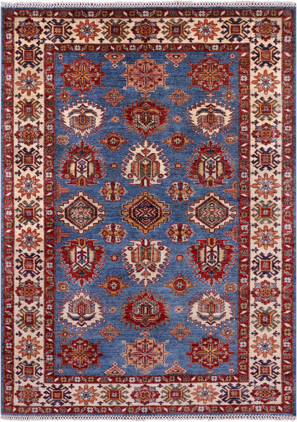 "Super Kazak Handmade Wool Rug - 5' 8"" X 7' 10"" - Golden Nile"